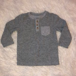 Cat & Jack Shirts & Tops - Cat & Jack Gray Henley. Size 2T